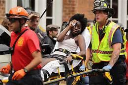 Injured protestor in Charlottesville 8/12/17