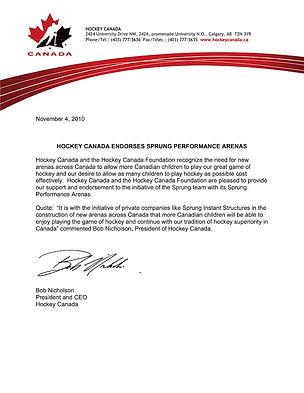 Empfehlung Hockey Kanada, IcePlex, Eishalle, Sprung Performance Arena