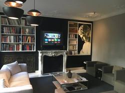 Rev' Mural TV Miroir Intérieur Moderne Cheminée