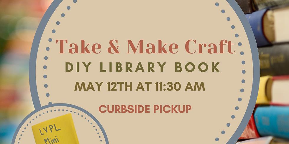 Take & Make Craft: DIY Mini Library Book