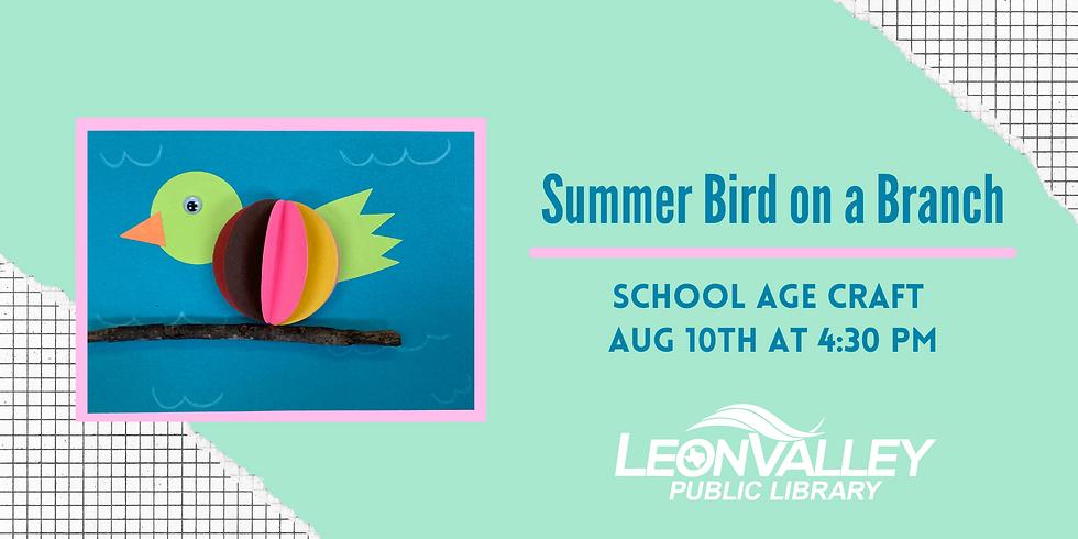School Age Craft: Bird on a Branch