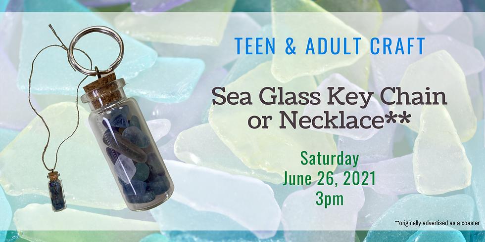 Sea Glass Keychain/Necklace - Take & Make