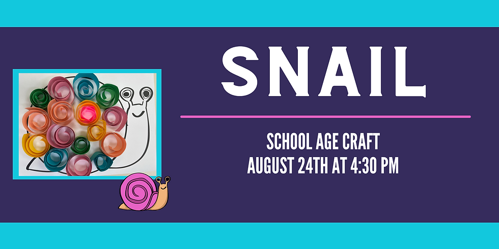 School Age Craft: Snail