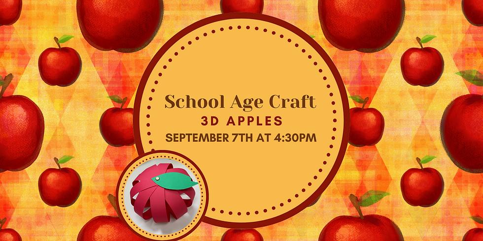 3D Apples  | School Age Craft