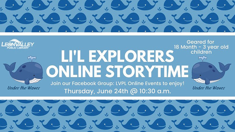 Lil Explorers Storytime