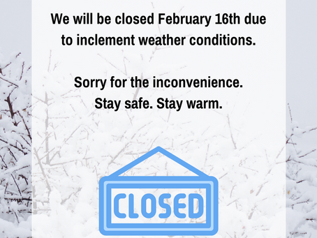 Closed February 16, 2021