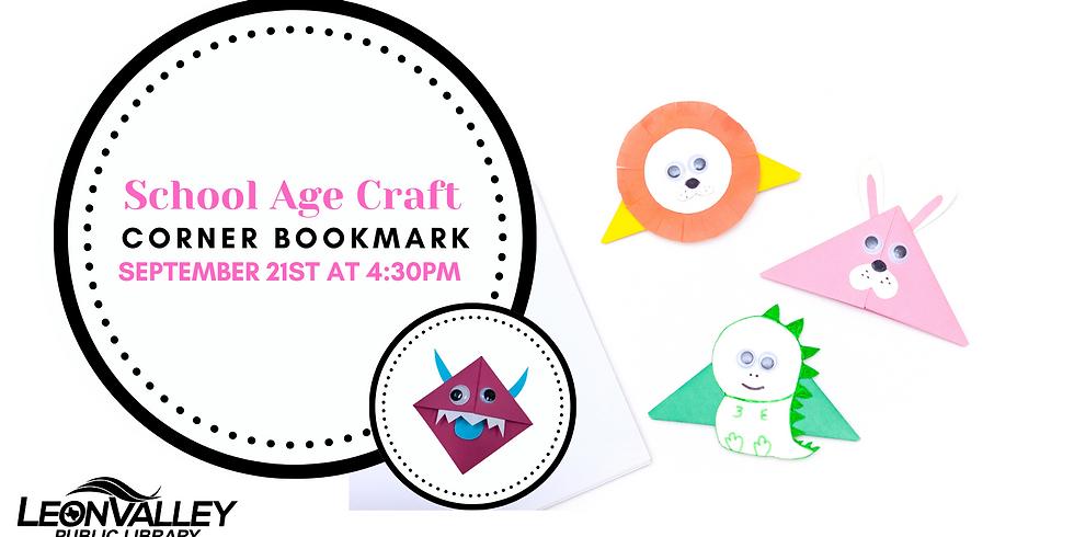Corner Bookmarks | School Age Craft