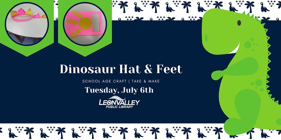 School Age Craft: Dinosaur Hat & Feet