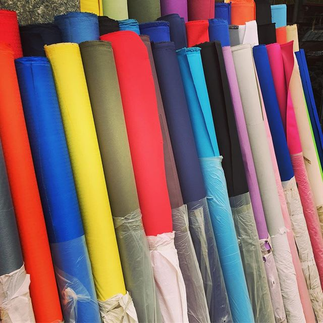 Fabric sourcing #rainbow #colours #inspiration #design #craft #travelling #flair #linings #bags #bro