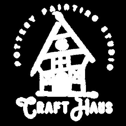 Craft Haus Palm Beach Pottery Painting Studio White Logo