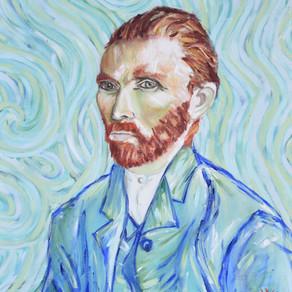 My Post-Impressionistic Knock-Off of Van Gogh's Self Portrait