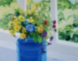 bluemilkbucketandflowers38x49oilongessoh