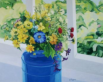 bluemilkbucketandflowers38x49oilongessohardboardHB.jpg