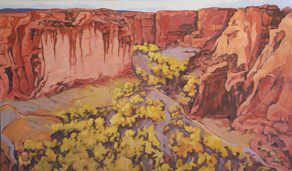 canyondechellycottonwoodsone34x58oil2019.jpg