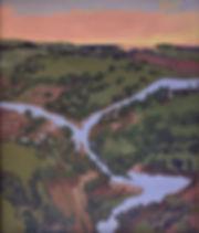 valleyislestreamandsunset48x40acryliccan