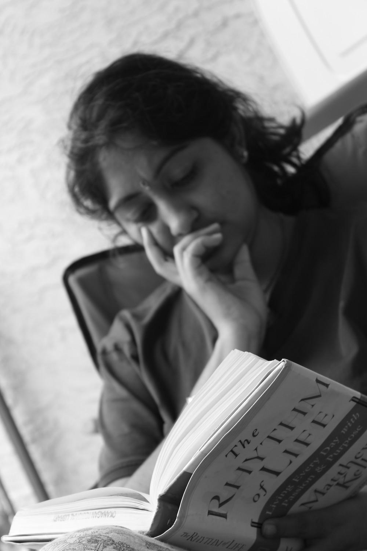 "shreelatha bhadravati reading a book ""the rhythm of life""""the guiding voice"""