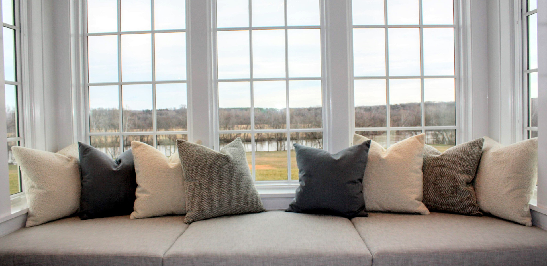 Window Seat Cushions & Pillows