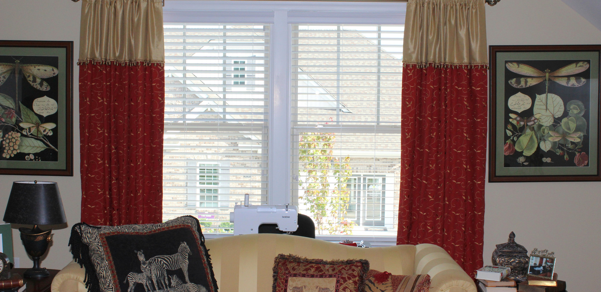 Rod Pocket panels with attached valance