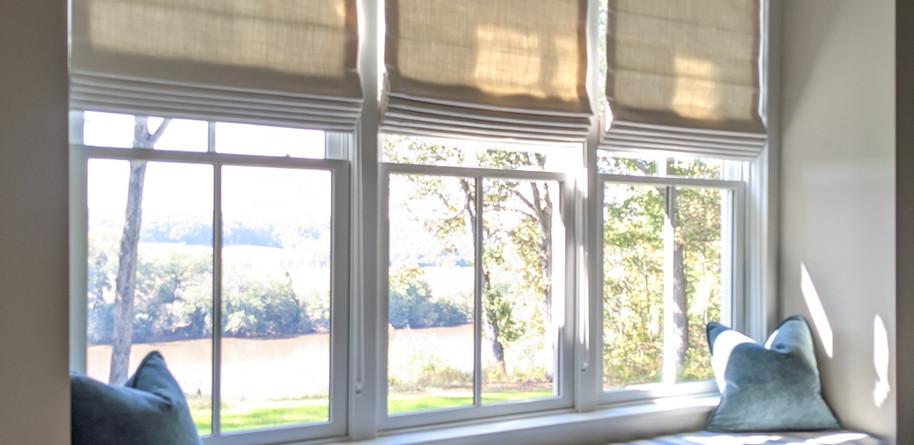 Roman shades & Windowseat cushions