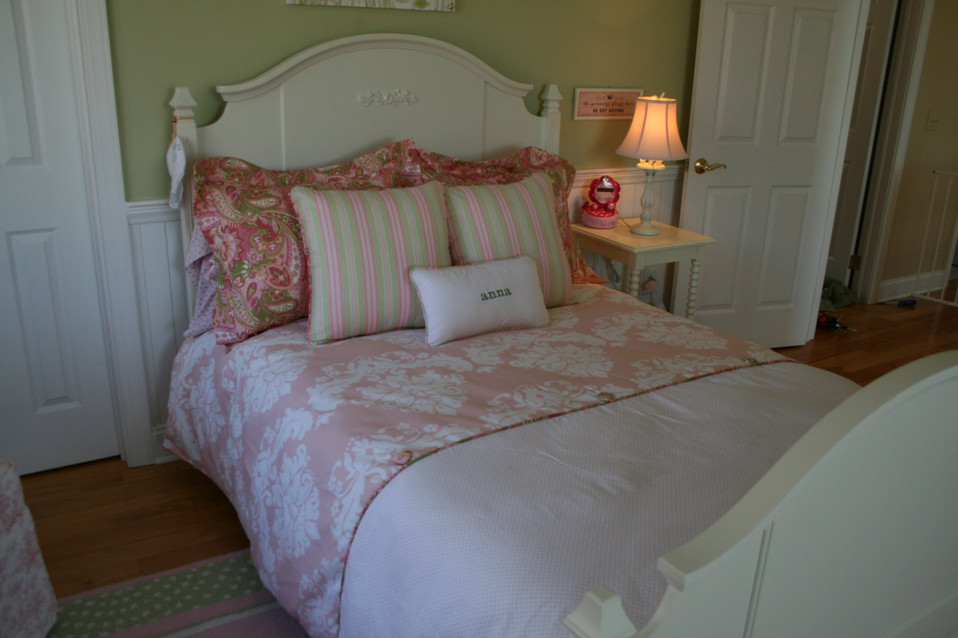 Shams, pillows, duvet cover & personalized accent pillow