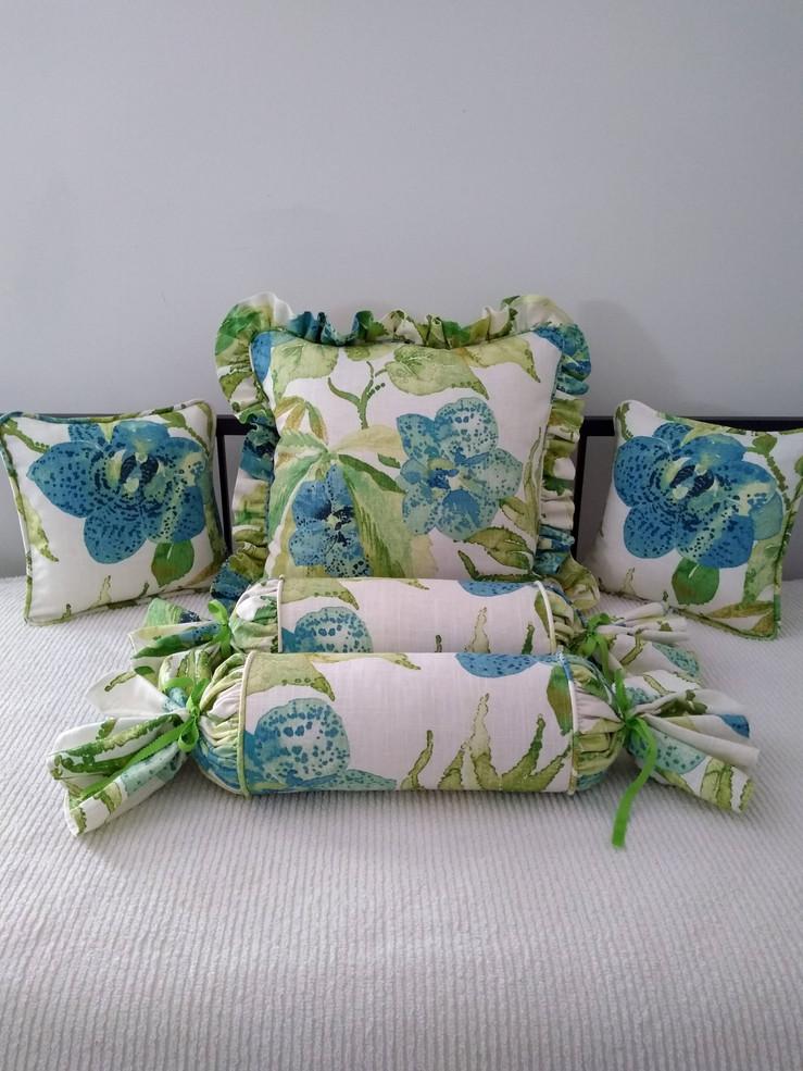 Ruffled Pillows & Bolsters