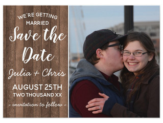 RUSTIC WOOD PHOTO SAVE THE DATE