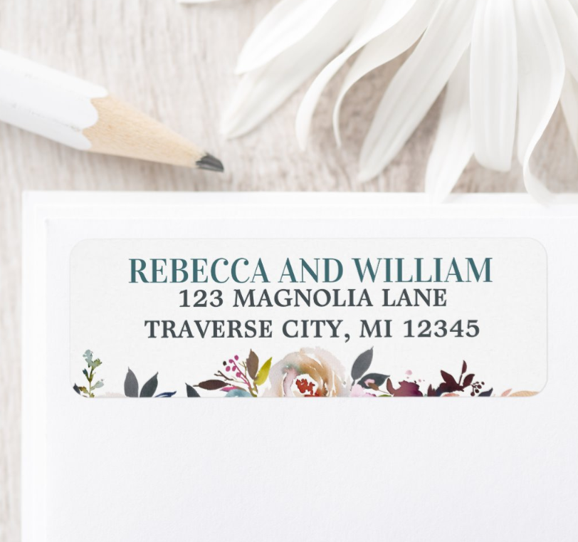 BEAUTIFUL BLOOMS ADDRESS LABEL