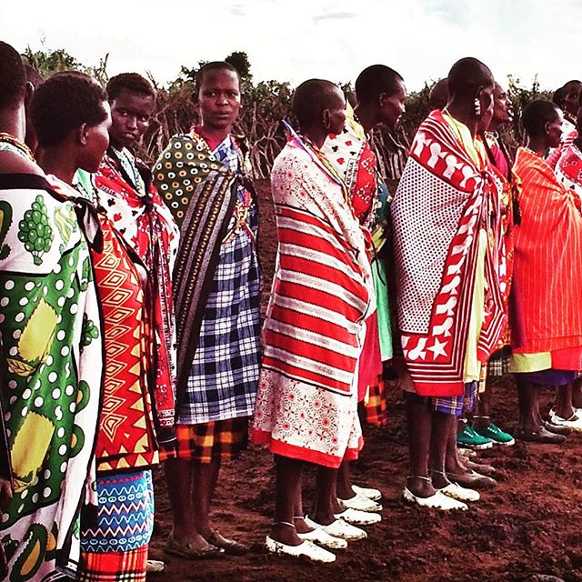 #Masai in #Kenya dressed in #multicolour