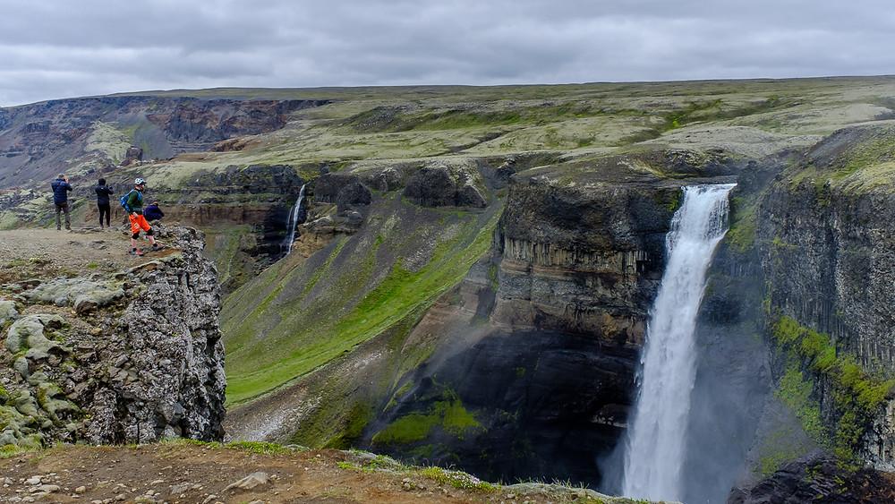 Petur overlooking the waterfall