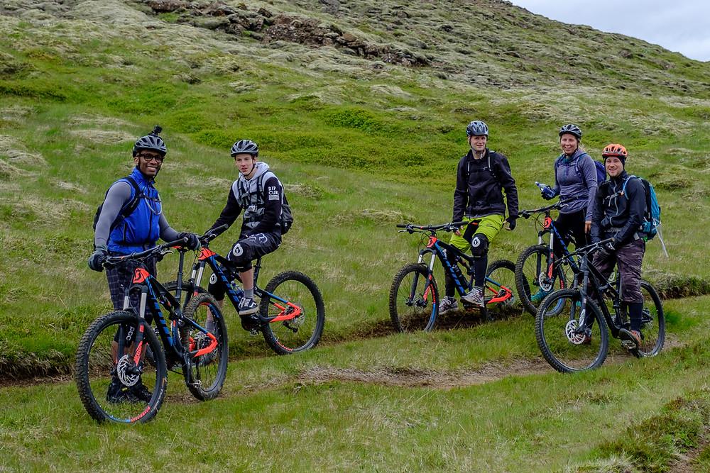 Eric, Australilan rider, Robert, Sara and Gummi