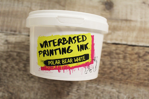 Crafty Screen Waterbased Ink- Polar Bear White 500g