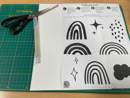 How To Print Rainbow Coasters.