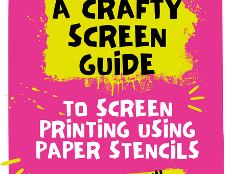 How to Screen Print Using a Paper Stencil.