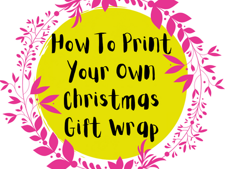 How to Print Your Own Gift Wrap