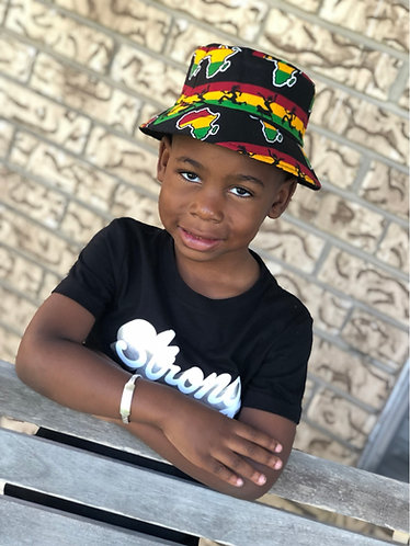 Africa Traditional Kids Bucket Hat