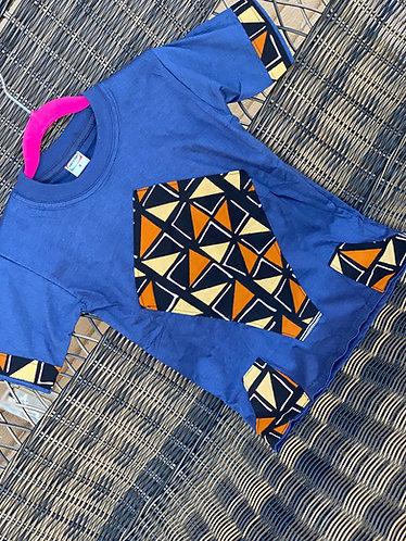 BLUE ANKARA  BROWN/BLK TEE (3T/4T)