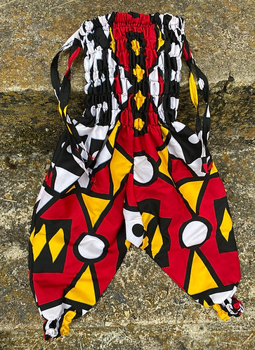 RED/BLK/YELLOW AZTEC JUMPSUIT