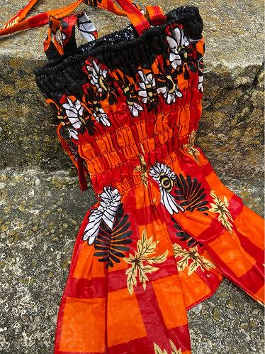 DEEP RED/ORANGE/YELLOW FLOWER Jumpsuit