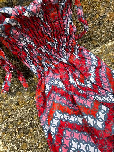 RED/PINK MULTI Diamond Jumpsuit