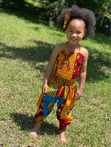 ANKARA JUMPSUIT w/ MATCHING BOW