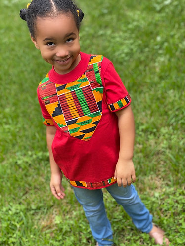 RED TRADITIONAL TEE (3T/4T)