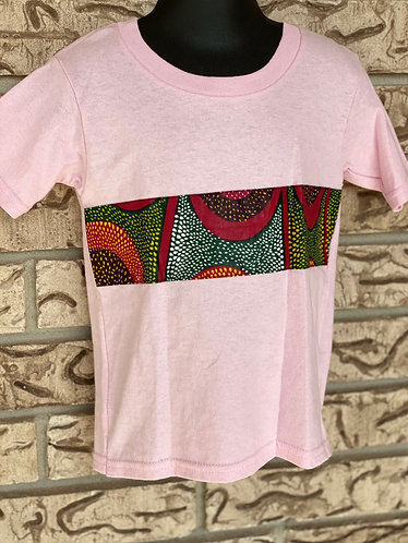PINK ANKARA RECTANGLE TEE