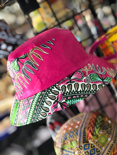 Unisex Pink Ankara Bucket Hat