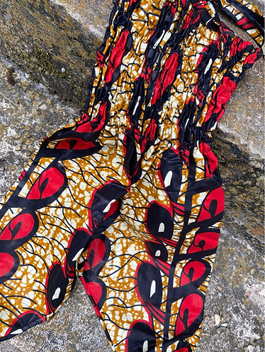 SWIRL MULTI BLK/RED/SIENNA JUMPSUIT