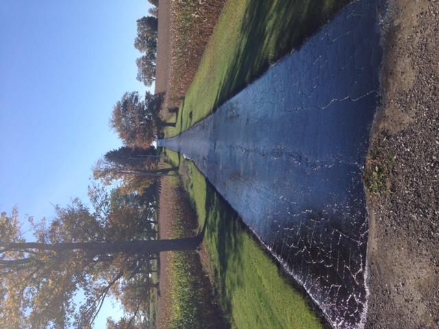 sealing asphalt farm laneway