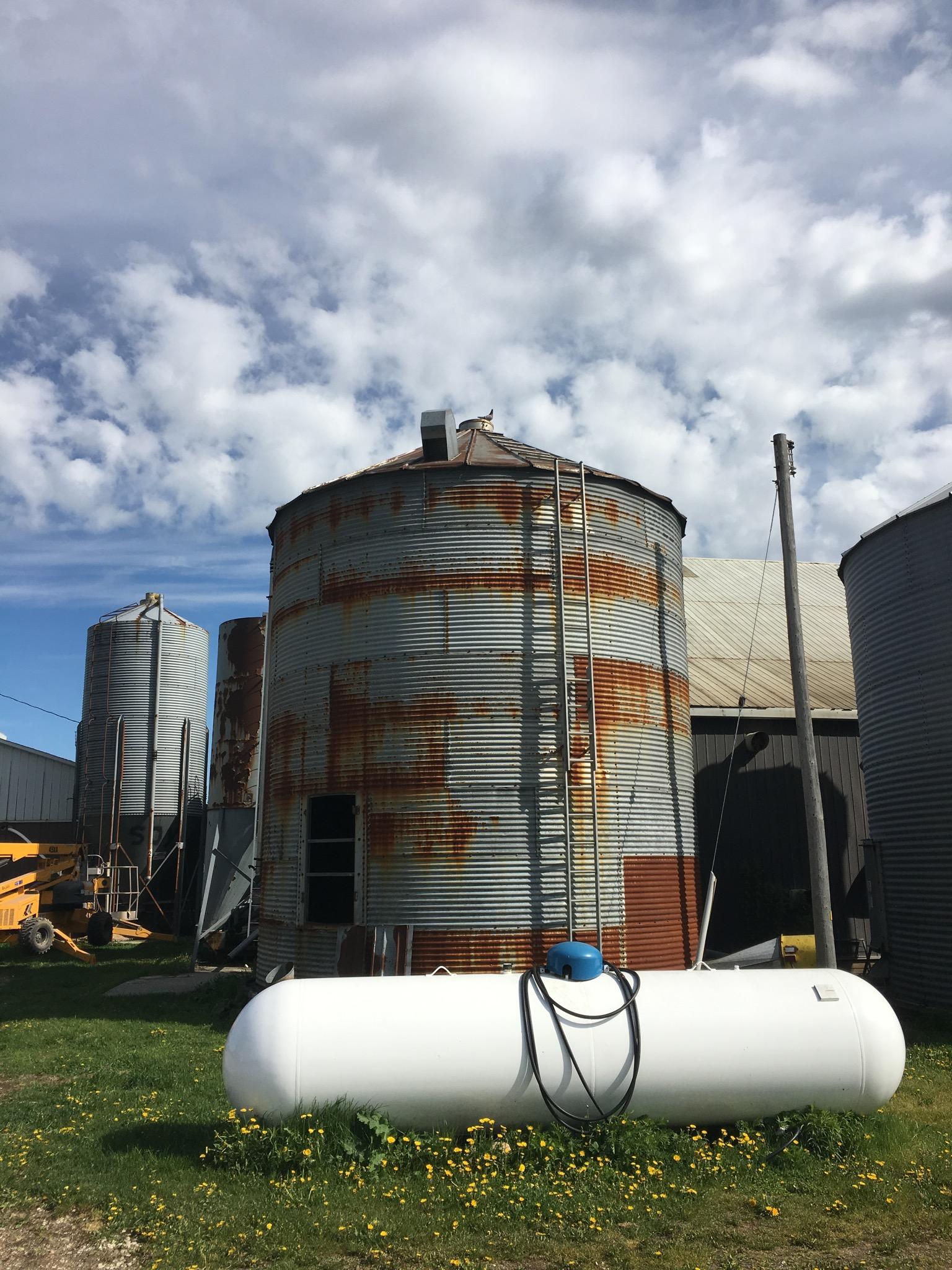 silo painting ontario canada - beforejpg