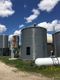 silo painting ontario canada -after