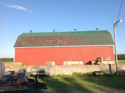 Barn roof painting Ontario before