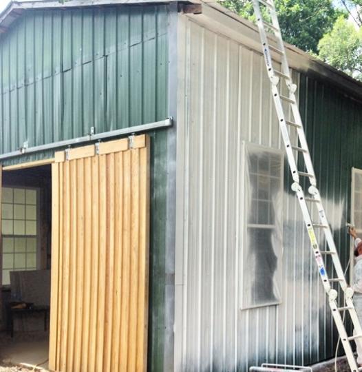 barn painting process