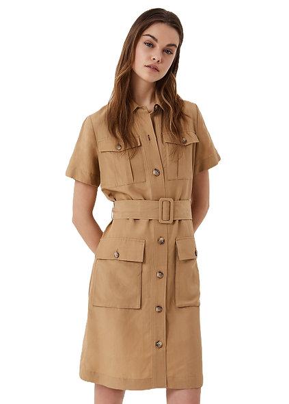فستان قميص مع حزام بنمط صحراوي الجمل LIUJO
